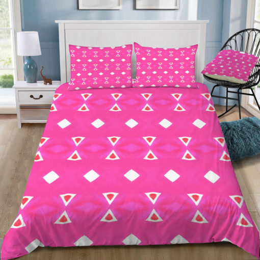 amy sia geo triangle 3 pink square tray top