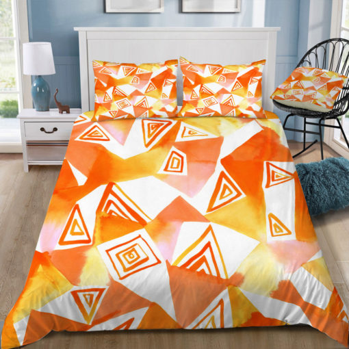 amy sia geo triangle orange square tray top