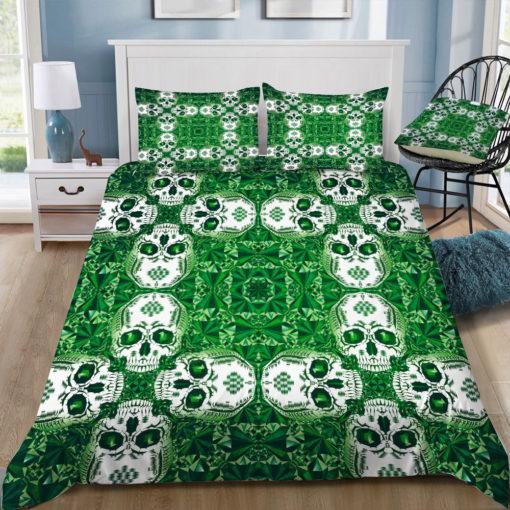 chobopop emerald skull pattern square tray top