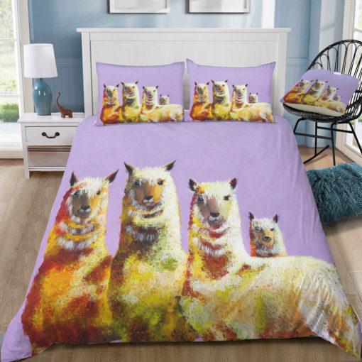 clara nilles lemon llamas on lavender square tray top