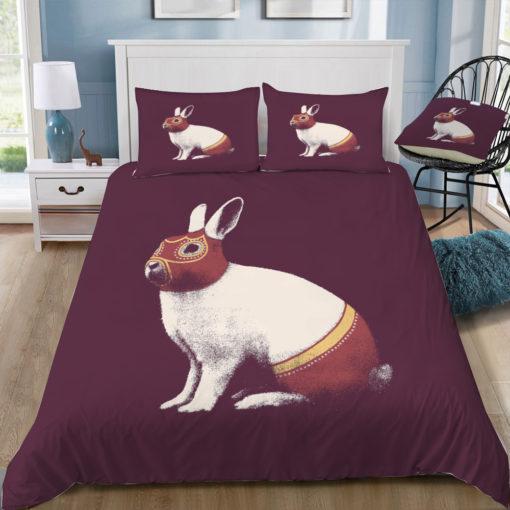 florent bodart rabbit wrestler lapin catcheur square tray top
